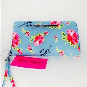 New Betsey Johnson Floral Wallet/Wristlet